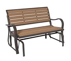 amazon com lifetime 60055 glider bench 4 feet faux wood