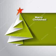 christmas tree card vector origami u2014 stock vector valenty 60530987
