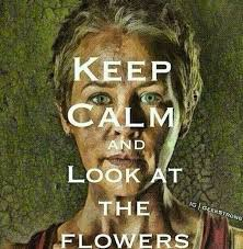 Look At The Flowers Meme - keep calm and look at the flowers the walking dead the