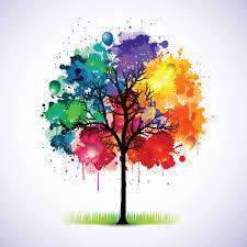 creative colorful tree design elements vector 01 arts