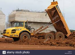 volvo truck pictures free volvo a40f articulated dump truck in action tipping earth on the