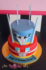 transformers birthday cakes birthday cake transformers boy blue 2 tier pixy cakes
