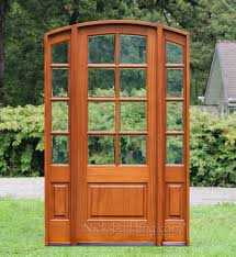 French Doors With Opening Sidelights by Sunrise French Doors Collection Antique Cherry Finish