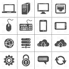 network and mobile devices simplus icons series royalty free