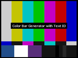 color pattern generator cbg520 color bar generator with text microimage video systems