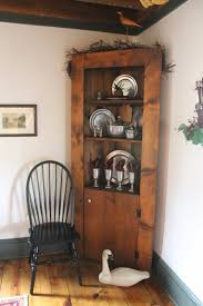 Primitive Corner Cabinet Thinking About Home Farmhouse Christmas Tour 2013