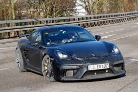 new porsche 718 cayman gt4 spotted testing auto express
