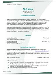Security Project Manager Resume Download Director Project Manager Pmo In Columbia Sc Resume