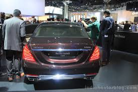 mercedes maybach 2015 mercedes maybach s600 rear at the 2014 los angeles auto show
