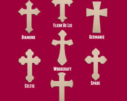 24 wood cross unfinished diy large wooden craft cutout