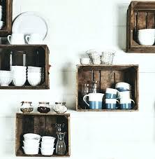 etageres de cuisine actagare de cuisine en bois etageres de cuisine caisse en bois deco