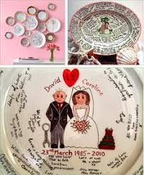 guest book platters skip the guest book make a great signature platter craft time