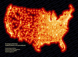 At T United States Coverage Map by A Map Of Every Mcdonald U0027s In The U S Huffpost