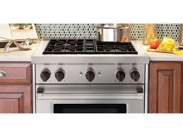 modern kitchen design with wolf kitchen 30 gas range black