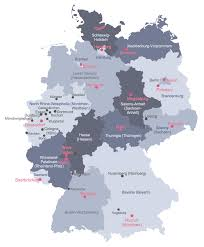 map of germany with states and capitals map of german states and cities major tourist best