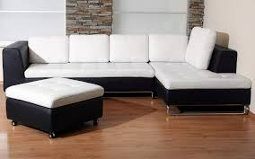 furniture interesting lovely two tone black white l shaped couch