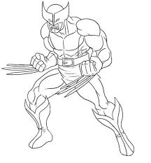 wolverine printable coloring pages men super heroes coloring