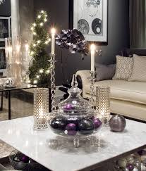 Christmas Livingroom Opulent Living Room With Metallic Coffee Table Centerpiece Also