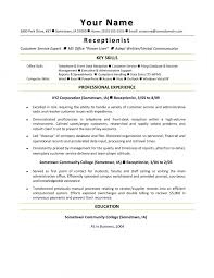 resume template for receptionist receptionist resume sle template exle best receptionist resume