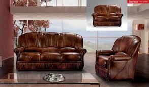 traditional sofas living room furniture esf monica traditional brown full leather living room sofa set