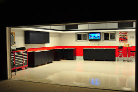 clean garage wall paint ideas with grey color and single