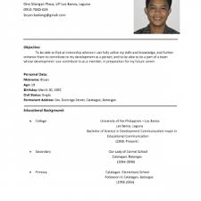 Working Student Resume Example Resume Sample For Working Students Nice Profile And