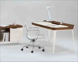 idabel dark brown wood modern desk with glass top glass and wood computer desk home office furniture images