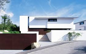 contemporary house designs and floor plans facades white storey bulding plant stairs roadside courtyard