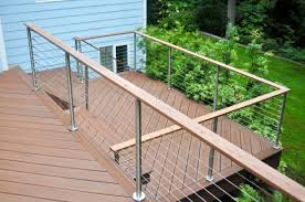 gallery modern stainless steel cable and glass railing inline