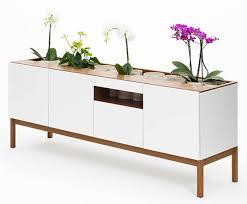 Studio Trends Desk by Subtle But Fresh Wooden Furniture Fuses Indoor Gardening With