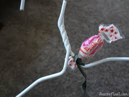 how to make a candy wreath craft for christmas wire hangers