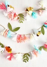 best 25 paper flower garlands ideas on hanging paper