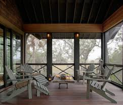 screened porch lighting ideas eclectic porch with adirondack