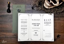 till death do us part a gothic wedding invitation suite to die