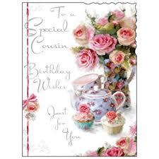 cousin birthday card jonny javelin cousin birthday card flowers cupcakes 7 25 x 5 5