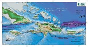Map Of Puerto Rico Caribbean Program Map Of Plate Boundary Coastal And Marine
