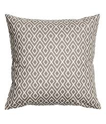 Hm Com Home by Check This Out Cushion Cover In Woven Cotton Fabric With A