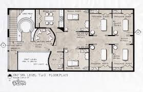 house plan spalevel2floorplan salons floor stupendous and spa