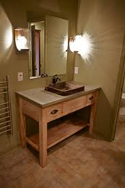 Hammered Copper Bathroom Sink Rustic Bathroom Vanities For Vessel Sinks Large Size Of Vessel