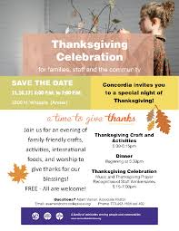 thanksgiving celebration concordia lutheran church chicago