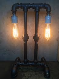 steampunk lamp edison lamp industrial lighting pipe lighting pipe
