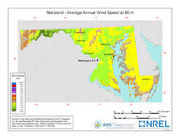 maryland map windexchange maryland 80 meter wind resource map