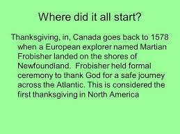 thanksgiving where did it all start thanksgiving in canada