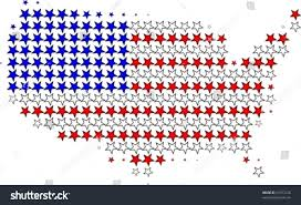 Us Map Outline Us Flag Map Outline Graphic Stock Vector 52977226 Shutterstock