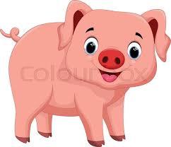 cartoon pigs cute adorable stock vector colourbox