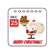 free clipart image calendar entry for december 25