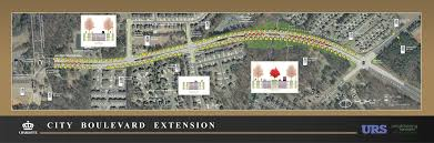 Charlotte Traffic Map City Boulevard Extension