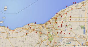 Lakewood Ohio Map by Listening In Nature The Trig Tracker