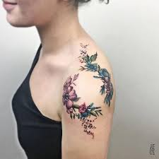 Tattoos On Shoulder For - pink flower shoulder temporary by tattoocrush com