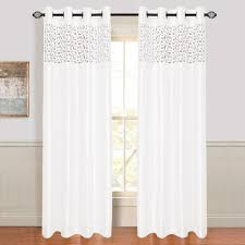 Pink Ruffle Curtains Panels by Lavish Home Karla Laser Cut Grommet Curtain Panel